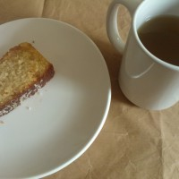 Coconut and lemongrass drizzle cake
